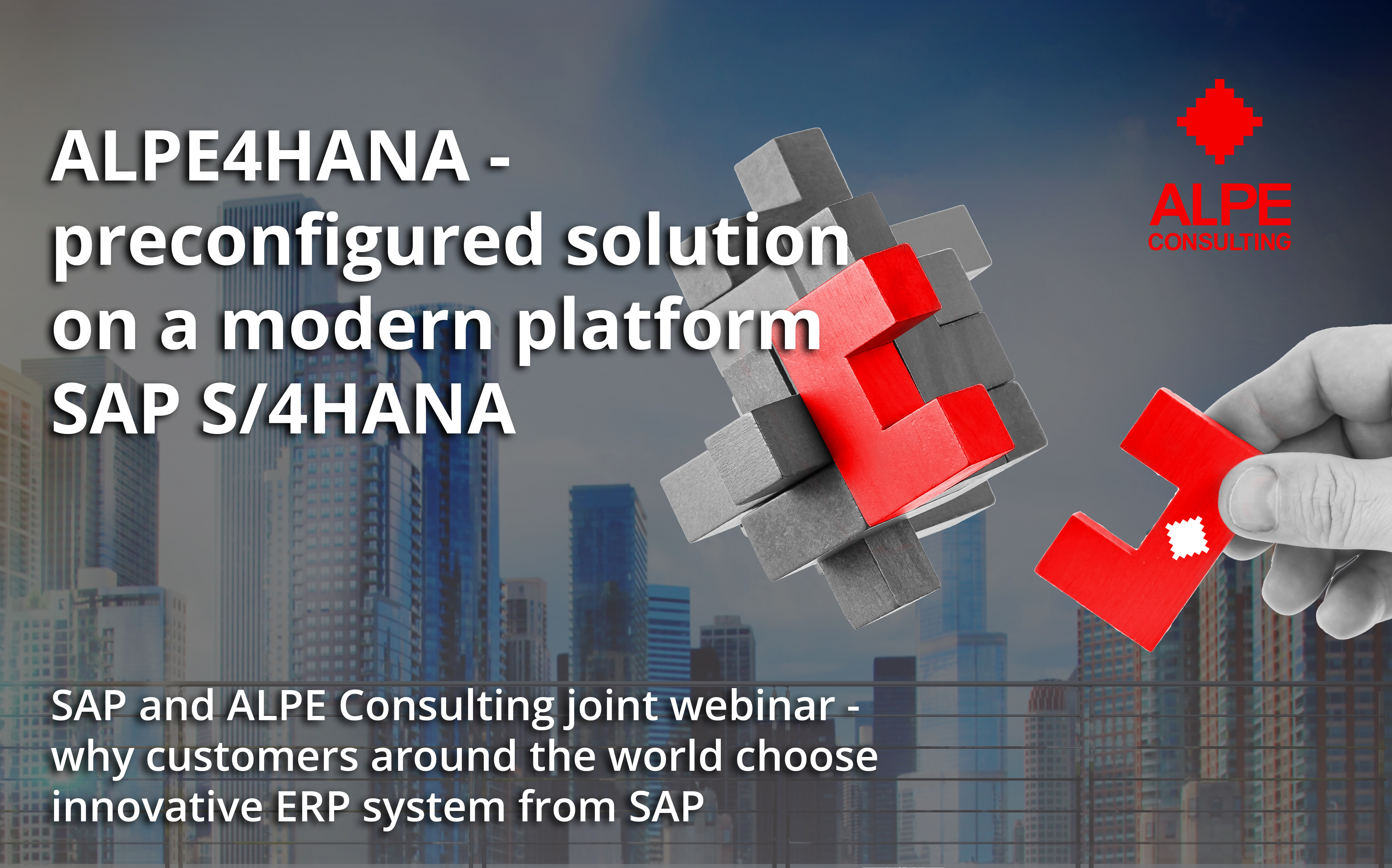 On May 13, a joint webinar of SAP and ALPE consulting took place on the pre-configured ALPE4HANA solution